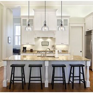 Kitchen ceiling light ebay industrial pendant light glass ceiling lamp lighting fixture kitchen island mozeypictures Image collections