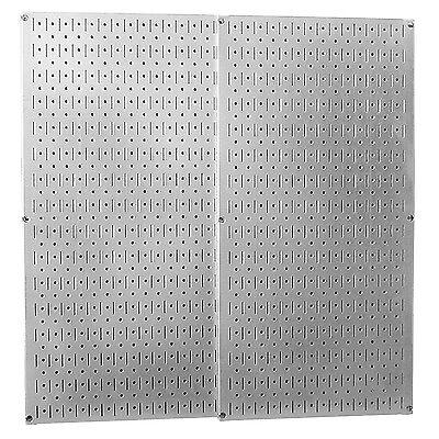 Galvanized Steel Peg Board Panel Wall Tool Storage Garden Shed Garage Work Shop
