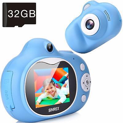 Simrex Kids Camera, Mini Children Digital Camera for Kids Video Camcorder Shockp