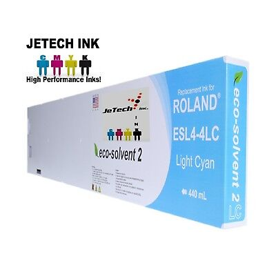 Roland Esl4-4 Eco-solvent Max2 Compatible 440ml Ink Cartridge - Light Cyan