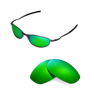 New Walleva Polarized Emerald Replacement Lenses For Oakley Tightrope (Oakley Tightrope Sunglasses Replacement Lenses)