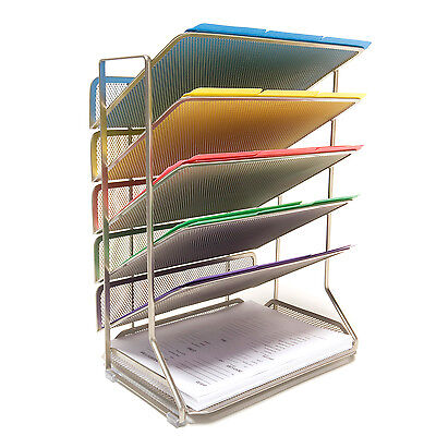Seville Classics Mesh Letter 6-tray Desk Wall Organizer Set Of Two Office Home