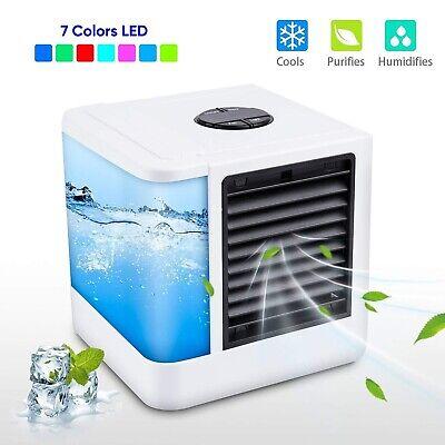 Mini USB Air Conditioner Humidifier Purifier 7 Colors Light Desktop Portable
