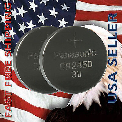 **FRESHLY NEW** 2x Panasonic CR2450 Lithium Battery 3V Coin Cell Exp 2024