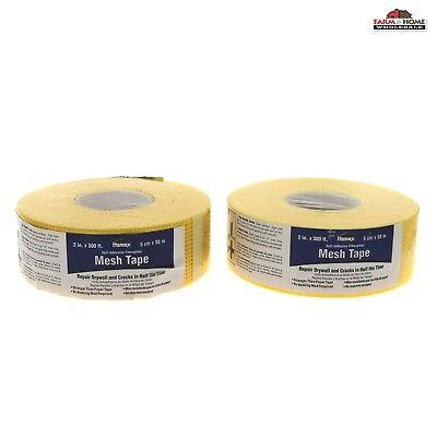 2 Self Adhesive Fiberglass Cloth Mesh Drywall Tape 2 X 300 New