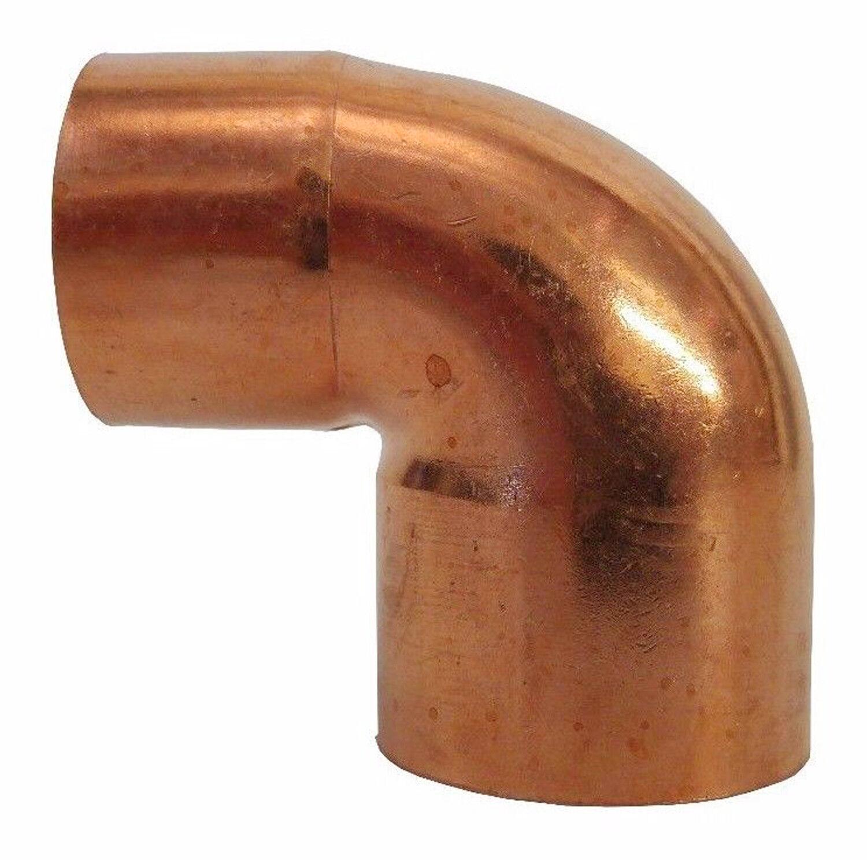 """1-1//4/"""" C x 1/"""" C 90-Degree Reducing Copper Elbow"""