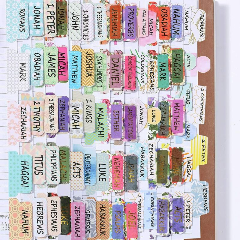 Mr. Pen- Bible Tabs, 3 Different Design, 222 Tabs, Bible Journaling Supplies,