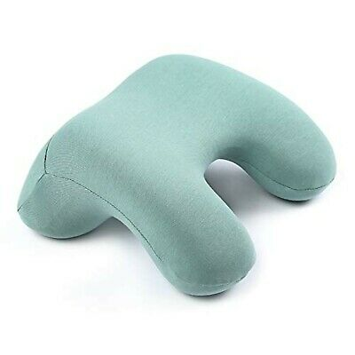 Arched Reversible Memory Foam Travel Pillow in Aqua Green