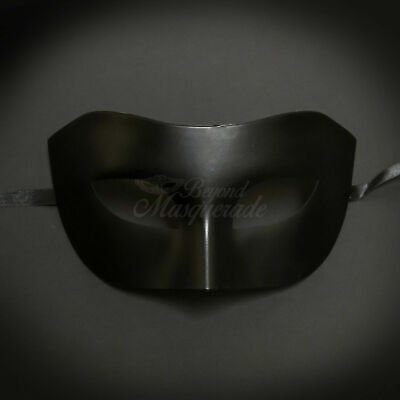 Classic Simple Black Venetian Mardi Gras Masquerade Mask for Men - Man Masquerade Masks