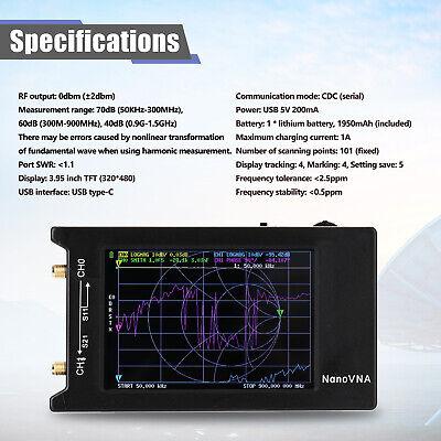 Nanovna-h Portable Vector Network Analyzer 10khz-1.5ghz Mf Hf Vhf Uhf Antenna
