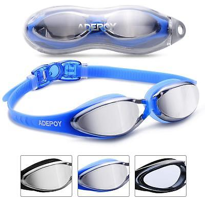 e27dd1783e2a62 Swimming Goggles Anti Fog Crystal Clear Vision UV Protection No Leaking  Blue A