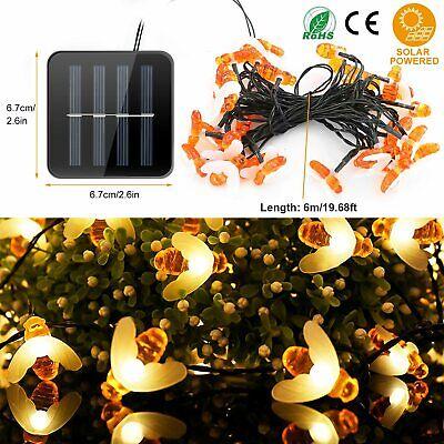 HOT Solar Powered Honey Bee String Lights Starry 30LED Lights Garden Trees Lawn ()