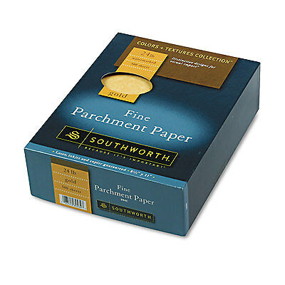 Southworth Parchment Specialty Paper Gold 24 lb. 8 1/2 x 11 500/Box 994C