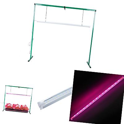 Full Spectrum LED 36W Grow Light System Stand Rack Seed Plan