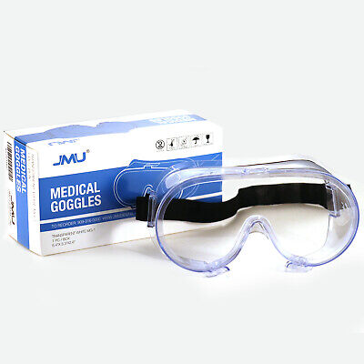 Safety Goggles Lab Work Eye Protective Eyewear Clear Lens Usa Stock