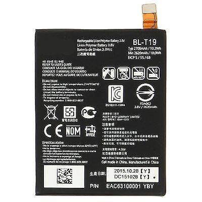 OEM Google Nexus 5X 2700mAh 10.3WH 3.8V Battery for LG H790 H791 H798 BL-T19 USA