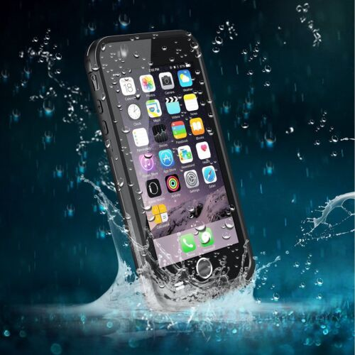 Apple iPhone 6 S Plus 5.5 Case Shock Proof Waterproof Heavy Duty Cover Black