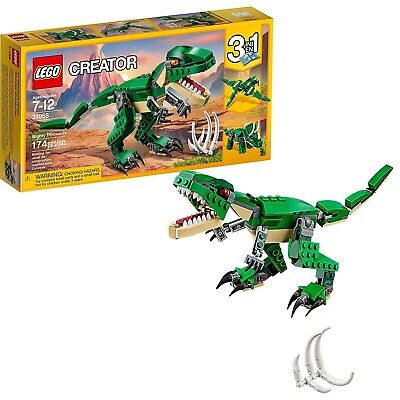 Building Set LEGO Creator Mighty Dinosaurs 31058 Dinosaur Toy TRex 3 in 1 Model