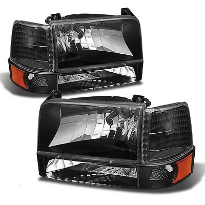 TIFFIN ALLEGRO BUS 2001 2002 2003 BLACK HEADLIGHTS HEAD LIGHTS LAMPS 6 PC RV