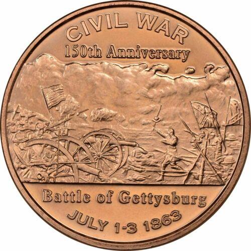 1 oz Copper Round - Gettysburg