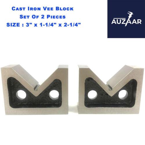 Pair of Cast Iron VEE BLOCKS 3 Inch Parallels Measuring Tools V Block