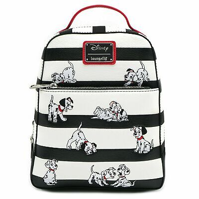 Loungefly Disney 101 Dalmatians Striped Faux Leather Mini Backpack
