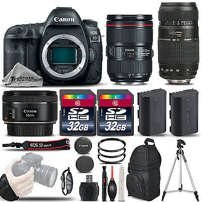 Canon EOS 5D Mark IV 30.4 MP DSLR Camera + Canon EF 24-105mm f/4L IS II USM Lens