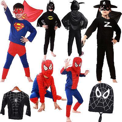 Heiß Super Zorro Halloween Kostüme GRÖSSE S M L für Jungen Kinder