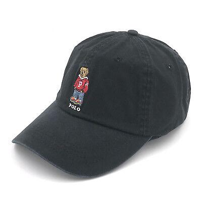 Vintage Rare Polo RL Sport Teddy Bear Baseball Cap Cotton Hat One Size