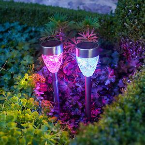 4er set led solar leuchte garten beleuchtung deko licht for Solar deko garten