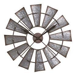 404-3956 La Crosse Clock Company 22 Decorative Analog Wall Clock - Windmill