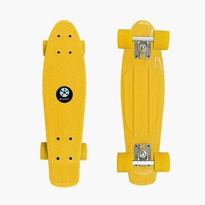 "AZM Yellow Penny Board Skateboard 22"" Cruiser Board"