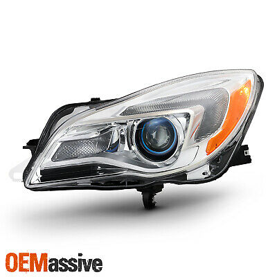 Halogen Projector Headlight For 2014-2017 Buick Regal Chrome Driver Left Side