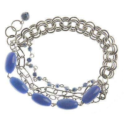 JOOMI LIM Lavender Double Row Stone Chain Link Bracelet NEW