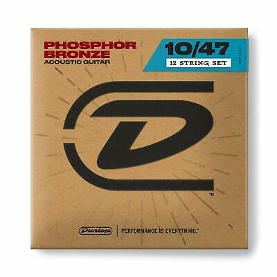 Dunlop DAP1047J Phosphor Bronze 12 String Acoustic Guitar Set, Light, .010-.047
