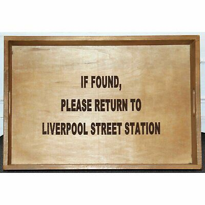 Old Wooden Display Tray Liverpool Street Station Novelty