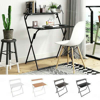 Folding Study Coffee Table Foldable Computer Desk Wooden Laptop Office Home New