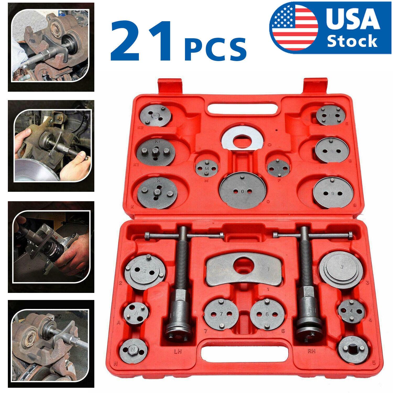 Universal 21PC Heavy Duty Disc Brake Caliper Piston Pad Wind Back Tool Set Case Automotive Tools & Supplies