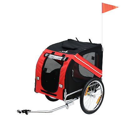 Pet Trailer Dog Bike Carrier w/ Hitch High Quality Red Black