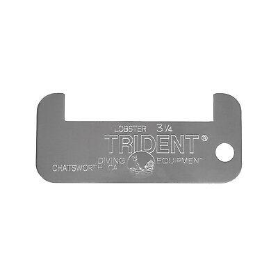 Trident California Lobster Measurement Gauge, Aluminum, 3.25 Inch