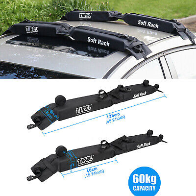 Load 60kg Car Soft Roof Rack Set Fit Car Large Luggage Carrier surfboard Travel