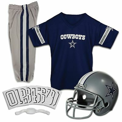 Dallas Cowboys Uniform Set Youth NFL Football Jersey Helmet Kids Costume Small - Dallas Cowboys Youth Uniform Set