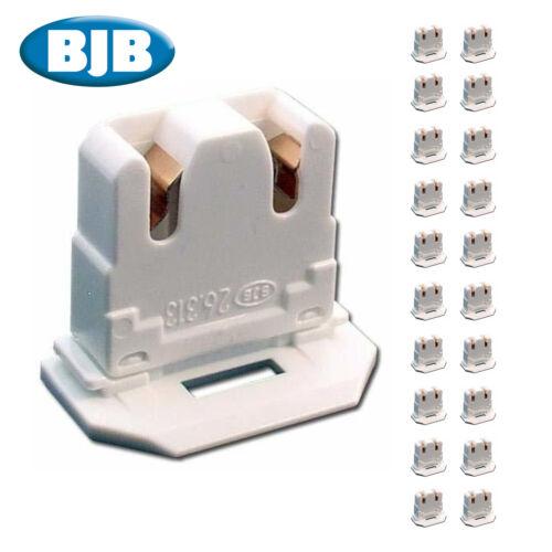 20 PACK - BJB LH0619 UL Listed Non-Shunted 26.313.1016.50 Slide On U-Lamp Holder