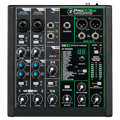 Mackie ProFX6v3 6 Channel Professional Effects Mixer with USB Mackie Dj Mixers