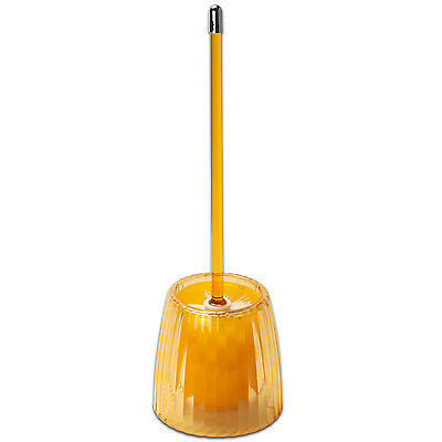 Toilet Bowl Brush – Orange Ribbed Acrylic Bath Accessory Bath