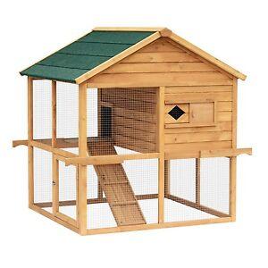 Poulailler/Cage à Poules/Lapin En Bois Solide —ENVOI GRATUIT