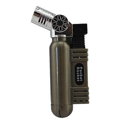 Pocket Rocket Single Jet Flame Butane Cigarette Cigar Torch Lighter - Dark Gray