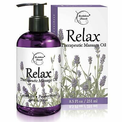 Relax Therapeutic Body Massage Oil with Best Essential Oils for Sore (Best Muscle Relaxing Essential Oils)