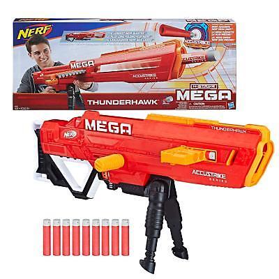 Nerf N-strike Mega Accustrike Thunderhawk Longest Darts Blaster Kids Toy Gun new