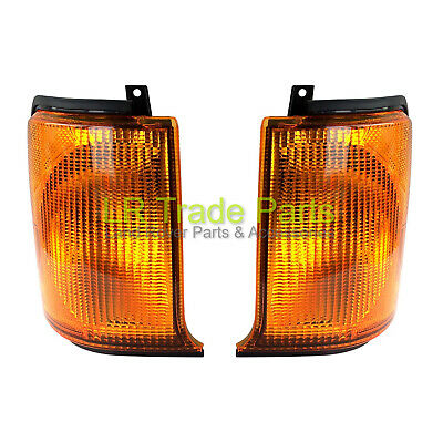 LAND ROVER DISCOVERY 2 FRONT LHS & RHS AMBER INDICATOR LIGHTS ORANGE LAMPS PAIR